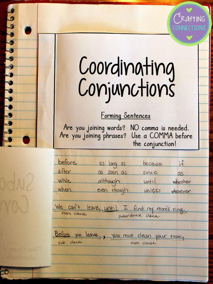Coordinating and Subcoordinating Conjunctions